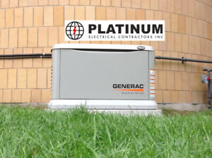 Generac Generators installed + 10-Year Extended Warranty