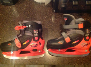 Adjustable cars kids skates j13-1-2 sizes
