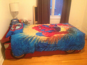 SUPER CAR FOR KIDS WITH ORTOPEDIC  MATRESS AMAZING  PRICE