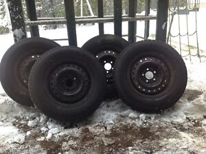 4 Tires and Rims - Goodyear Ultra Grip Ice 215/70R15
