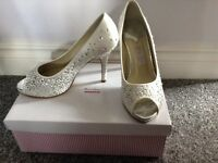 Champagne diamanté detailed shoes
