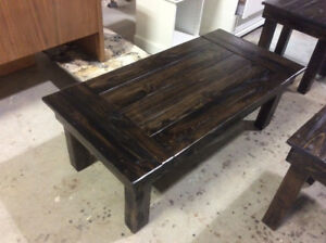 RECLAIMED WOOD COFFEE, HALLWAY AND END TABLES