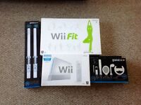 Wii Console + Wii Fit + 18 Games plus more