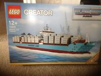 Lego 10241 Maersk Line Triple-E Discontinued and Extremely Rare With Box and Instructions