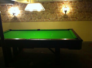 Fischer Questor vintage Pool Table, excellent condition London Ontario image 2