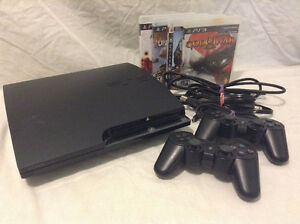 Slim PS3 120GB with 2 controllers, 4 games