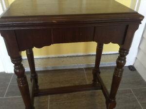 Antique solid wood side table great for small spaces