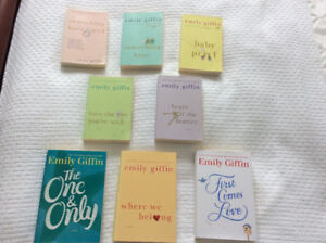 """""""Emily Giffin"""" Books (5 softcovers + 3 hardcovers) - Only $25 !"""
