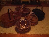 Large Country Cottage Wicker Baskets Kitchen/ Wedding Accessories