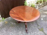 19th Century Mahogany Tilt Top Coffee/Occasional Table
