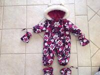 Habit de neige fille 12 mois Gusti
