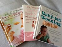 Weaning books x3