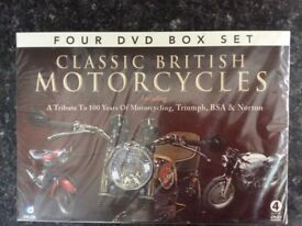 Brand New Classic British Motorcycles DVD Box Set