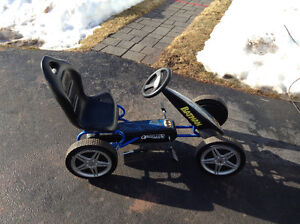 2 bikes and pedal car
