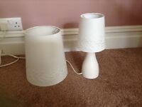 Small table lamp and light shade to match