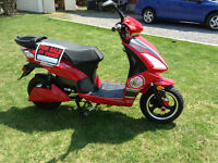 NEW PRICE! Candy-apple red, heavy-duty, electric bike for sale