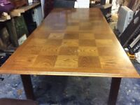 Stag Oak Dining Table + 6 Chairs