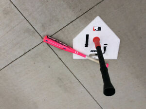 Youth Baseballt Bat  & Baseball Batting Tee