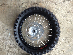 Dirt bike ice tires and wheels