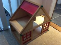 Wooden dolls house and furniture sets