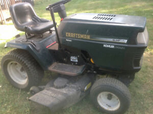 Craftsman garden tractor,lawn mower, bagger, and Snowblower