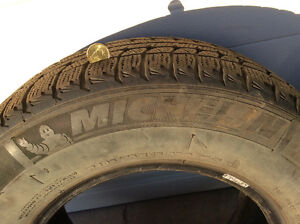 Five Michelin X-Ice Winter Tires. P205/75R15