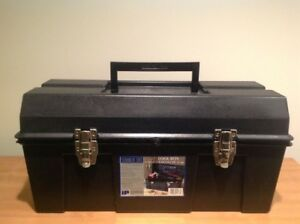"""IP 22"""" Tool Box with Steel Latches, Black ToolBox"""