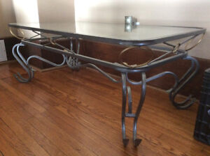 Coffe Table, Half moon table with mirror and End Tables.