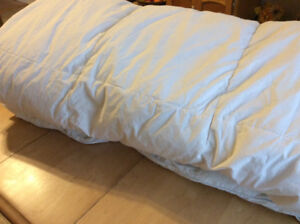 Feather and down duvet $20.00
