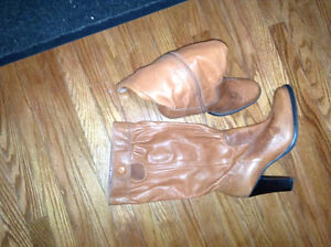 Ladies leather size 8 1/2 dress boots for sale