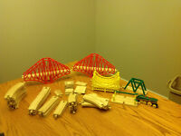 Wooden train and accessories