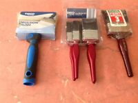 PAint & Decorator Brushes x 6 NEW /UNUSED DIY projects