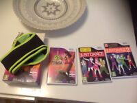 Just dance , just dance 2 and Zumba fitness with belt for Nintendo wii