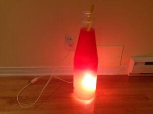 Lampe style bouteille illuminee 22 po $22