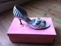 Lexus Silver Satin Evening or Wedding Shoes