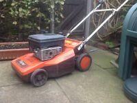 Petrol lawn mower flymo self drive