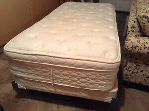 Single Bed - Box Spring, Mattress and Frame