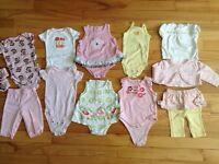 Lot de vêtements et accessoires bébé fille 0-12 mois