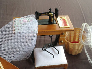 Dollhouse Sewing Room Miniatures