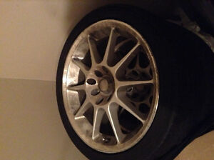 NEW PRICE: Set of 4 Low Profile Tires with Rims