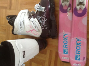 Youth Salomon skis and Boots