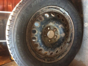 2 snow tires on rims used only 3 months $150 OBO