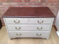 Edwardian chest of drawers painted in Annie Sloan