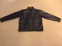 Men's leather jacket NEW.