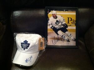 Morgan Reilly & Wendel Clark autographed Leaf Collectibles