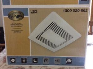 Hampton Bay 80 CFM Bathroom Fan with LED Light