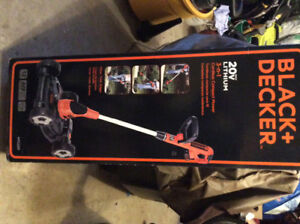 Black and decker 3 in 1 mower trimmer edger-cordless.