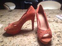 Kurt Geiger pink heels