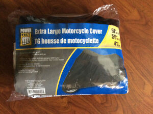 XL nylon cover for motorcycle.