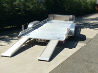 2013 Aluma Flat Deck Car Trailer